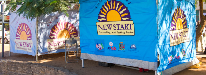 New Start HIV counseling & testing tent